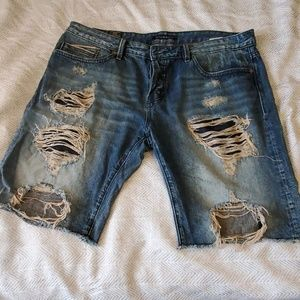 Designer denim shorts